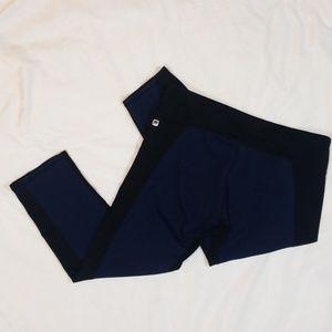 Fabletics Medium Black and Navy Capri Yoga Legging